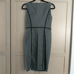 Zara basic Gray sleeveless Sheath career dress